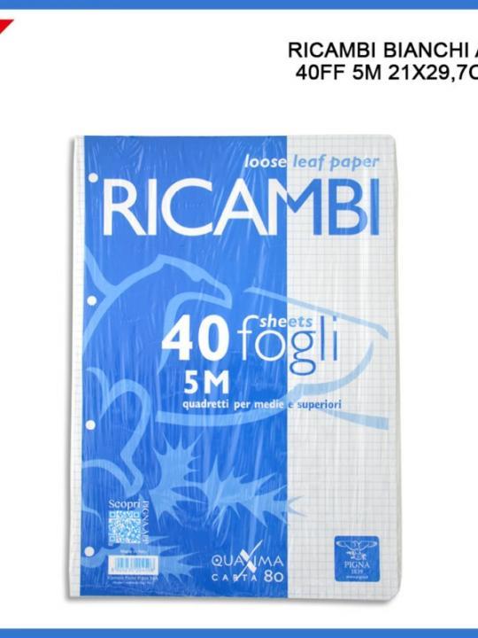 Ricambi A4 40Ff 5M 80G Bianco