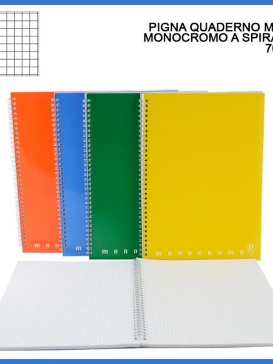 Quaderno Maxi Spirale Monocromo 70Ff 5M