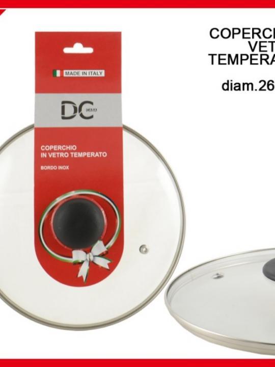 Coperchio Vetro Temperato 26Cm