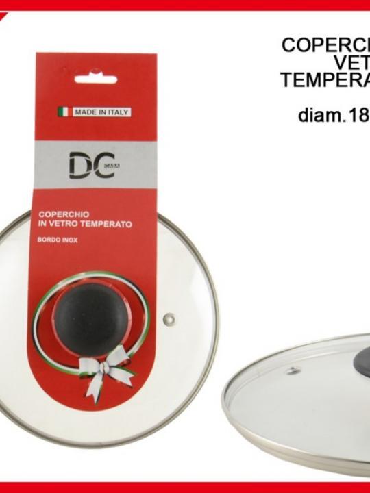 Coperchio Vetro Temperato 18Cm