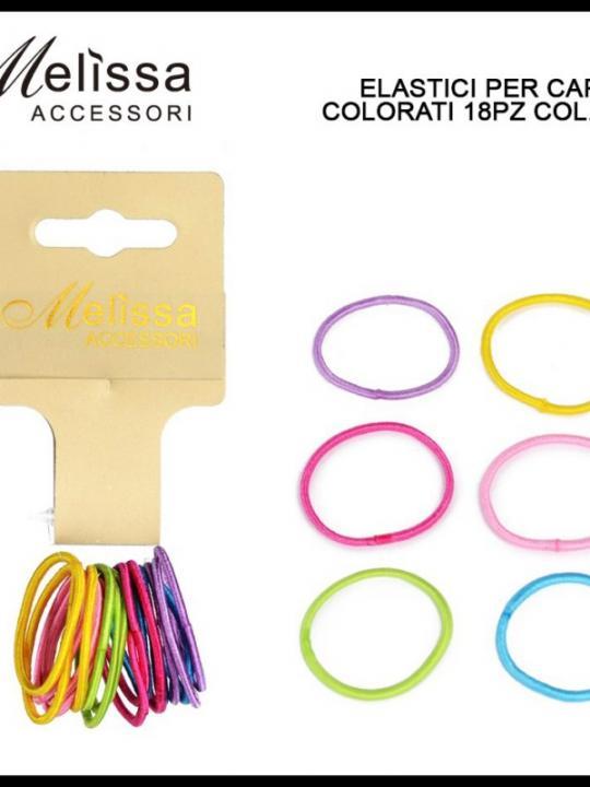 Elastici Per Capelli Color 18Pz