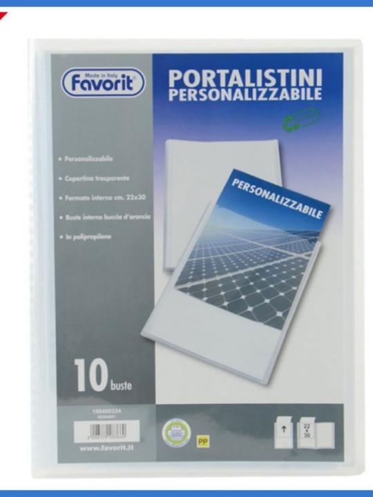 Portalistino Personalizzabile A4 10 Tasc