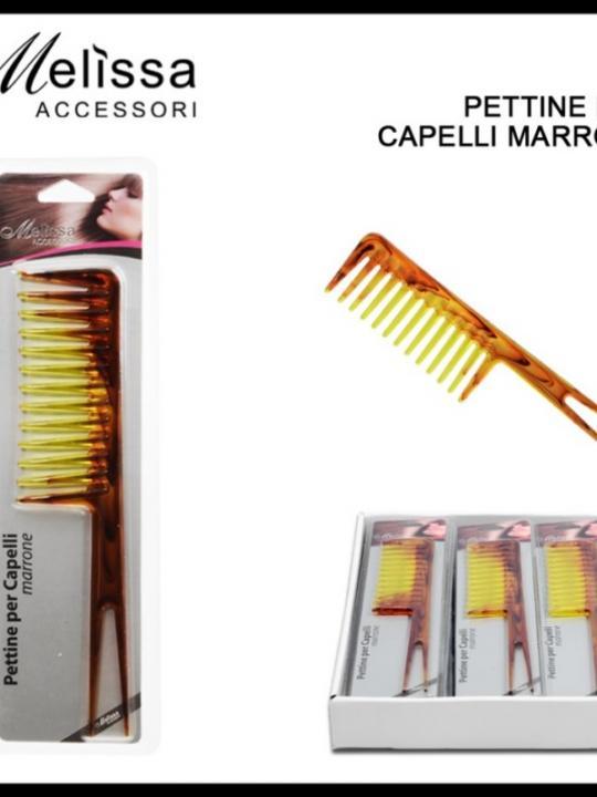 Pettine Per Capelli C/Doppia Coda Marron