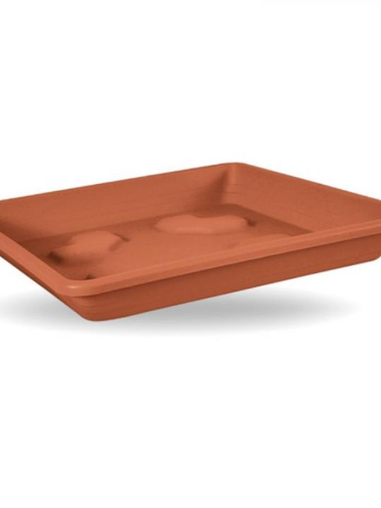 Sottovaso Quadrato 12Cm Terracotta