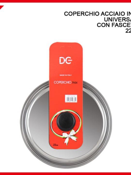Coperchio Ac.Inox Uni,.C/Fasc 22Cm