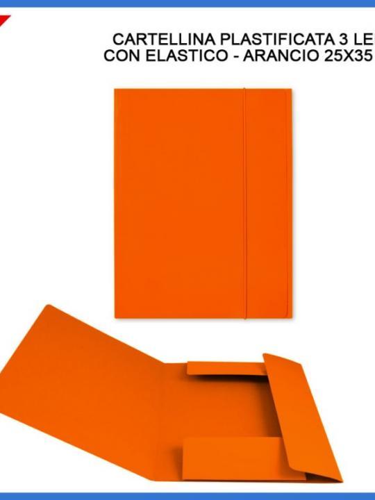 Cartellina C/Elast. 3/L 25X35Cm Arancion